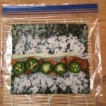 shrimp, cucumber, jalapeno, sushi rice