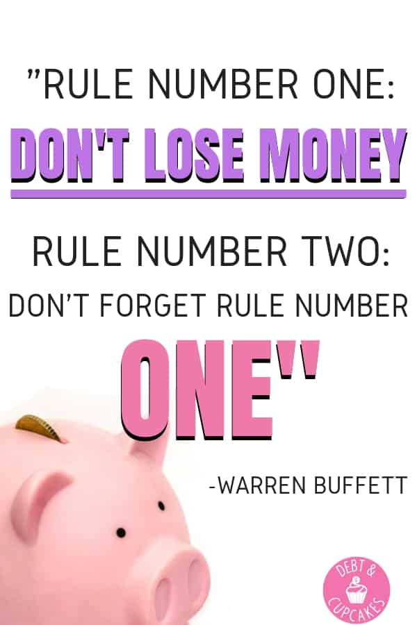 Rule number one don't lose money rule number 2 don't forget rule number one - warren buffett