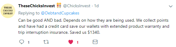 Thesechicksinvest twitter post