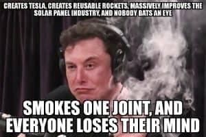 Elon Musk Smoking Pot