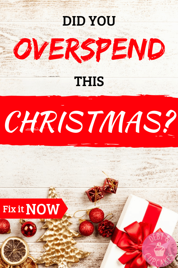 did you overspend this christmas