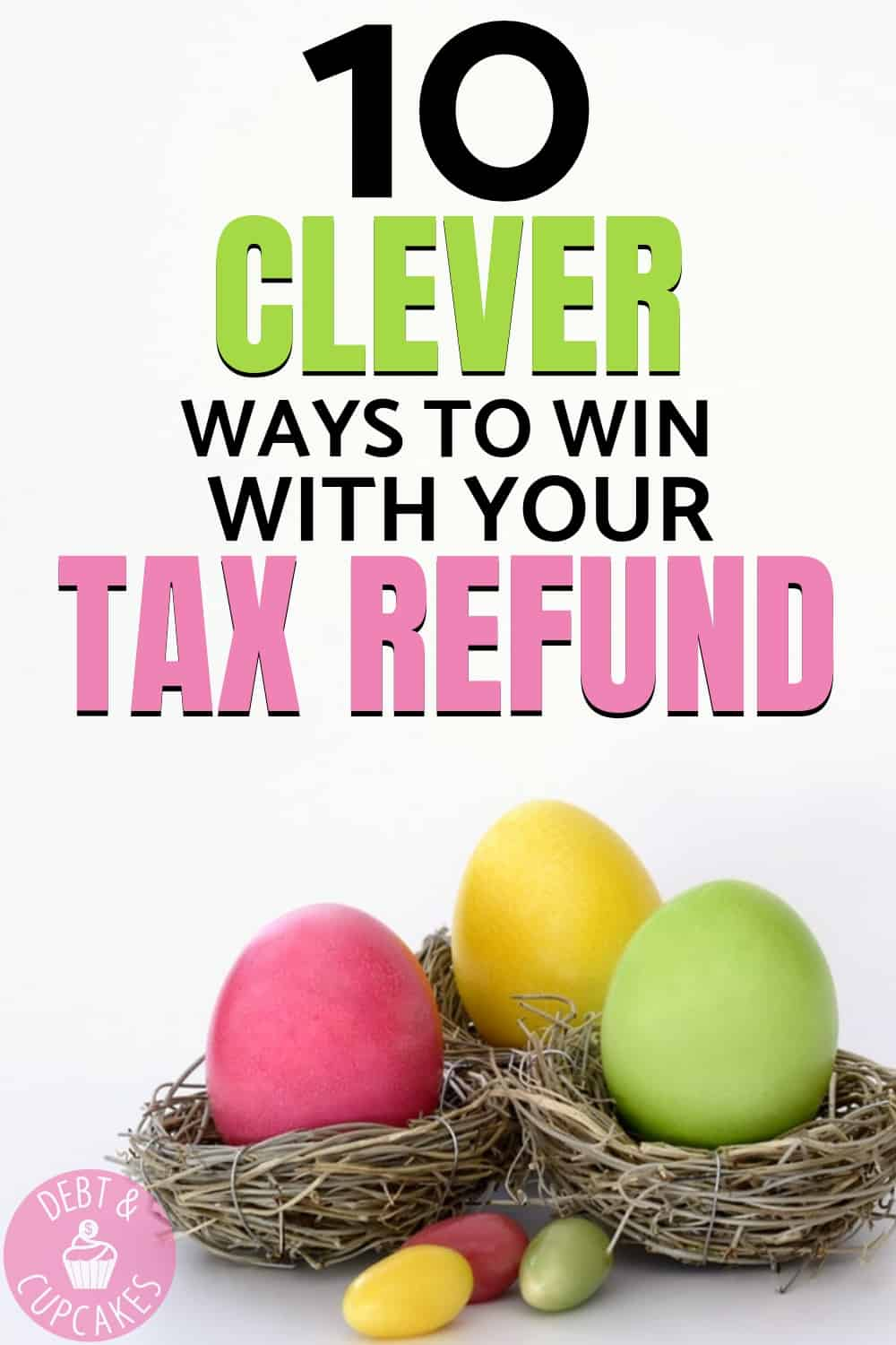If you're getting at tax refund, you should use it to build wealth? But how? Pay off debt, save money, or invest? There are many ways to win, and these 10 tips will help you build wealth with you tax refund this year! Click to learn more!!
