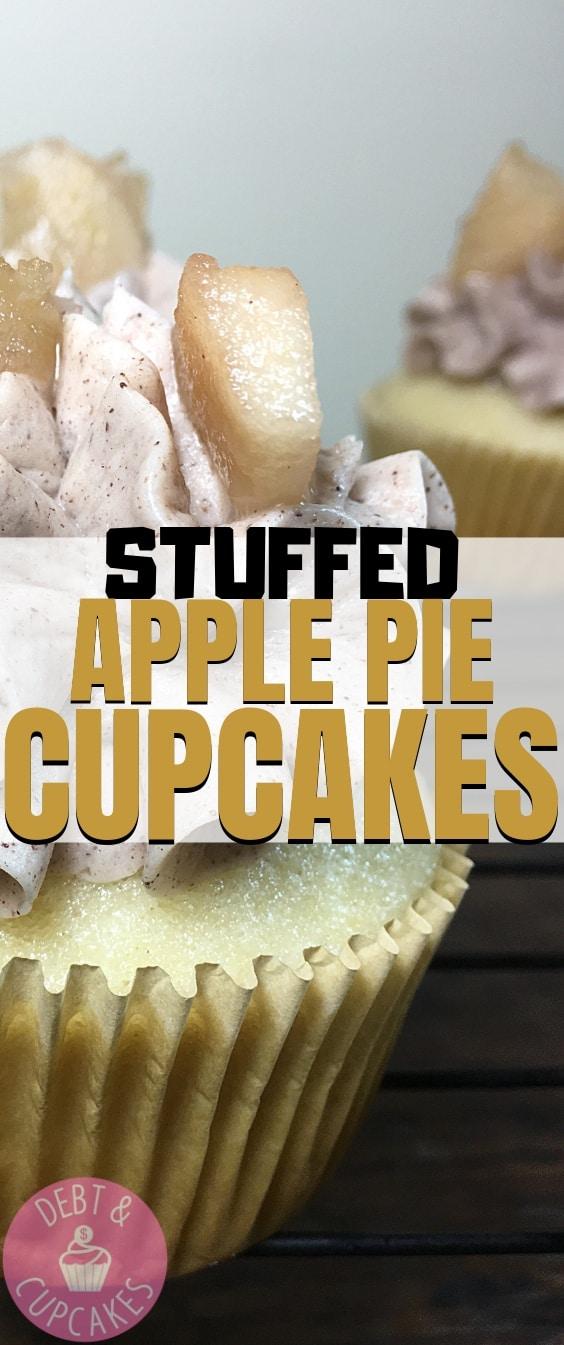 Stuffed Apple Pie Cupcakes