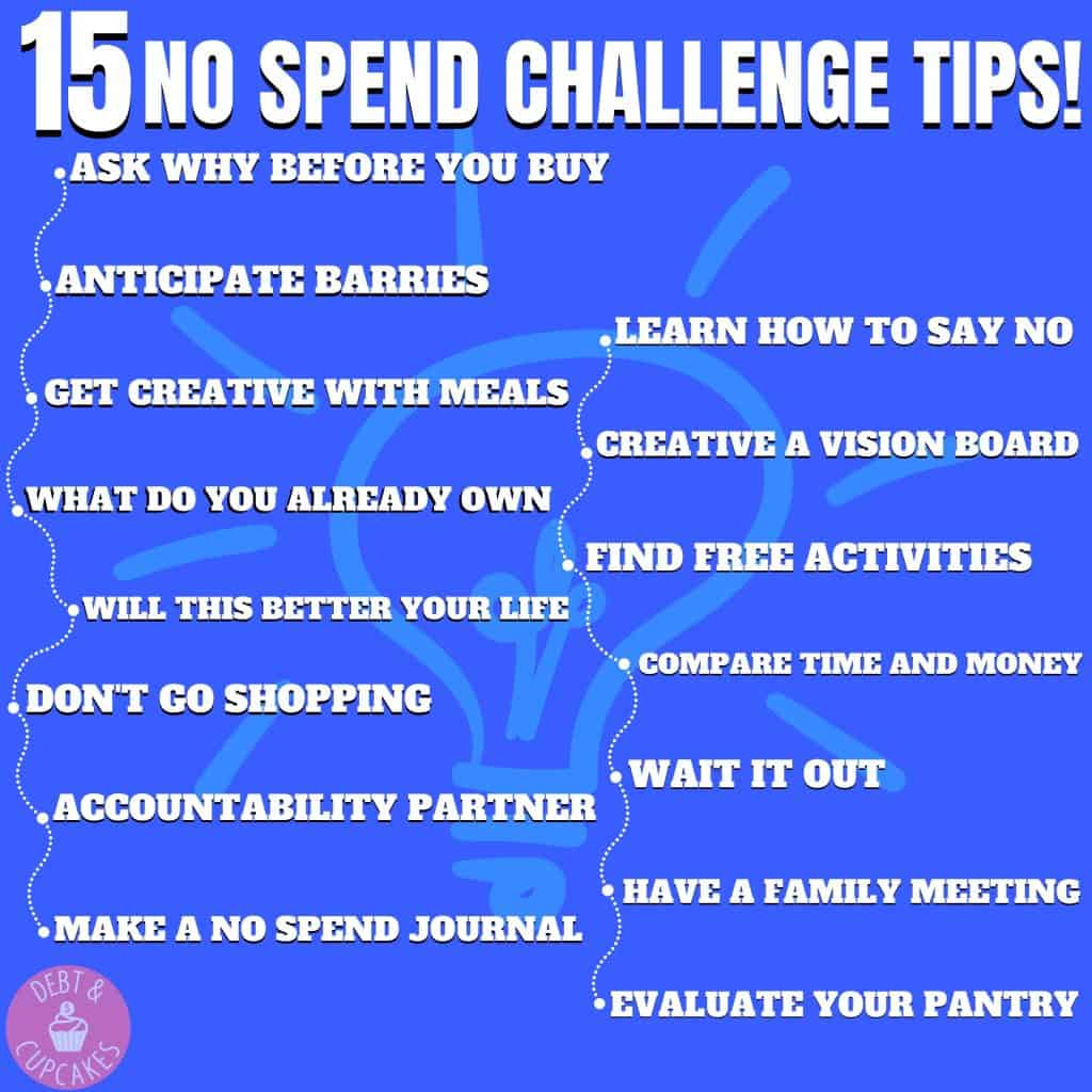 15 no spend challenge tips